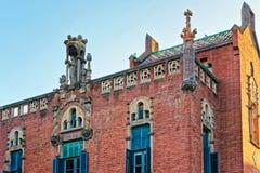 Fragment av byggnad av Sjukhus de Sant Pau i Barcelona Royaltyfria Foton