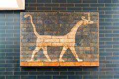 Fragment av den Babylonian Ishtar porten i Istanbul Archaeolo Fotografering för Bildbyråer