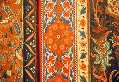 Fragment av den blom- mönstrade väggen av 17th århundradeAleppo rum Arkivbild