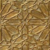Fragment av den dekorerade dörren Arkivfoto