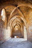 Fragment av den forntida staden Caesarea. Israel. Royaltyfri Fotografi