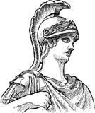 Fragment av den forntida statyn Arkivfoton