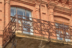 Fragment av den gamla balkongen Royaltyfri Fotografi