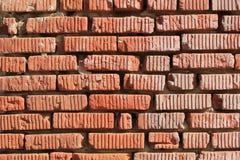 Fragment av den gamla tegelstenväggen Arkivfoton