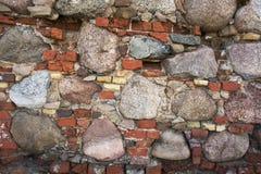 Fragment av den gamla väggen Arkivbilder