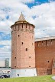 Fragment av den Kremlin väggen, stad Kolomna Arkivfoto