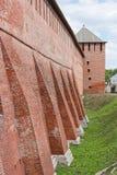 Fragment av den Kremlin väggen, stad Kolomna Arkivbilder
