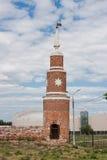Fragment av den Kremlin väggen, stad Kolomna Fotografering för Bildbyråer