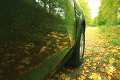 Fragment av den moderna bilen Royaltyfri Foto