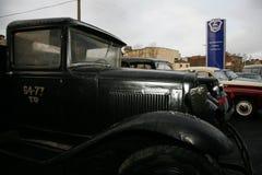 Fragment av den retro gamla bilen GAZ - motorförbundet, den berömda `-polutorka`en, bilen av det andra världskriget WW2 - USSR 19 Royaltyfri Bild
