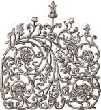 Fragment av det dekorativa staketet Royaltyfri Foto