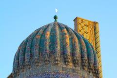 Fragment av det forntida Muslimkomplex, Uzbekistan royaltyfria foton