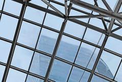 Fragment av det glass taket som bakgrund royaltyfria foton