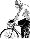 Fragment av en cyklist Royaltyfri Bild