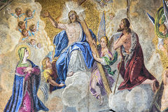 Fragment av en forntida mosaik Arkivbilder