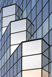 Fragment av en glass skyskrapa Fotografering för Bildbyråer