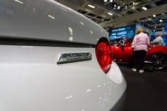 Fragment av en roadster Mazda MX-5 Arkivfoton