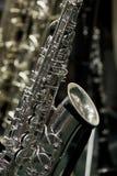 Fragment av en saxofon Fotografering för Bildbyråer