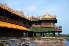 Fragment av en terrass av den imperialistiska porten av den förbjudna purpurfärgade staden ton arkivfoton