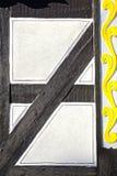 Fragment av ett gammalt fahverkhus. Royaltyfria Bilder