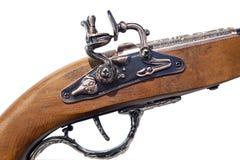 Fragment av ett gammalt muskötvapen Arkivfoton
