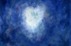 Fragment av ett mörker - blå bakgrund Royaltyfri Bild