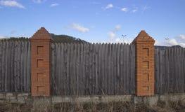 Fragment av ett tr?staket royaltyfria foton