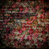 Fragment av färgrik retro gobelängtext, fragment av färgrikt r Fotografering för Bildbyråer