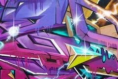 Fragment av färgrika grafitti Royaltyfri Bild