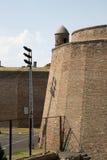 Fragment av fästningväggen av den Belgrade fästningen Arkivbild