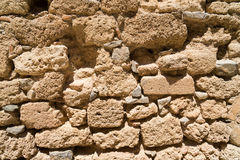 Fragment av fästningväggen som jousting Arkivfoton