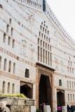 Fragment av fasaden av basilikan av förklaringen i den gamla staden av Nazareth i Israel Royaltyfri Fotografi