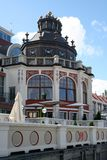 Fragment av fasadhotellet i Sopot, Polen royaltyfri fotografi