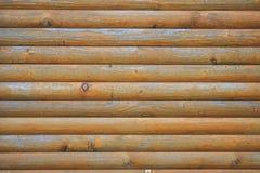 Fragment av foderväggen vid trä, specificerad struktur, bakgrund Arkivbilder