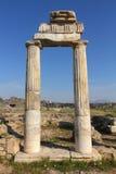 Fragment av forntida byggnad i Turkiet Arkivfoto