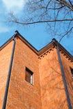 Fragment av gammal tegelstenbyggnad Royaltyfri Foto