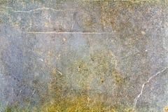 Fragment av gammal textur för blått papper med sprickor abstrakt bakgrund Royaltyfri Fotografi