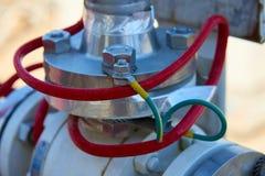 Fragment av gas som bearbetar utrustning arkivfoton