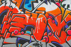 Fragment av grafitti Royaltyfria Foton
