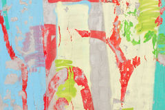 Fragment av grafittiväggen Royaltyfria Foton