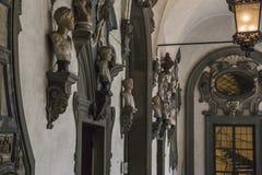 Fragment av inre av den Medici-Riccardi slotten, Florence arkivfoton