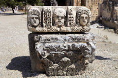 Fragment av lättnad Demre Myra, Turkiet Arkivfoto