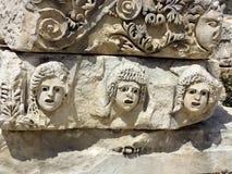 Fragment av lättnad Demre Myra, Turkiet Royaltyfria Bilder