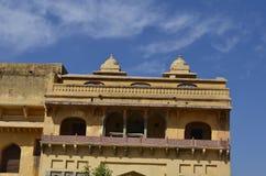 Fragment av majestätiska Amer Fort i Jaipur Rajasthan Indien Royaltyfria Foton