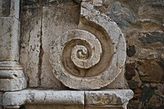 Fragment av marmorkolonner Royaltyfria Foton