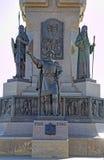 Fragment av monumentet till årsdagen 1000 av Yaroslavl Royaltyfria Foton