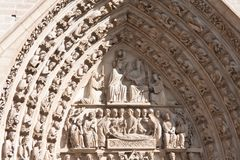 Fragment av Notre Dame Arkivbilder