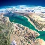 Fragment av planetjorden rött hav Royaltyfri Bild