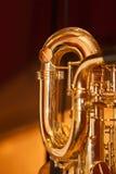 Fragment av saxofonen Fotografering för Bildbyråer