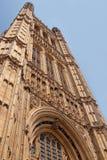 Fragment av slotten av Westminster i London UK Fotografering för Bildbyråer